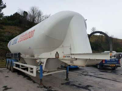 2015 Spitzer 49m³ 3 Pot Belly Triaxle Tanker Trailer