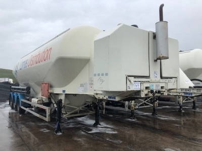 2008 Feldbinder 50m³ 3 Pot Belly Triaxle Tanker Trailer