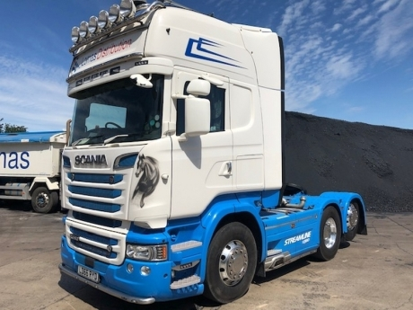2016 SCANIA R580 V8 Topline 6x2 Rear Lift Tractor Unit