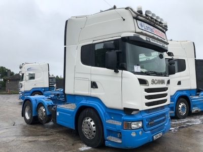 2014 SCANIA R580 V8 Topline 6x2 Mini Midlift Tractor Unit